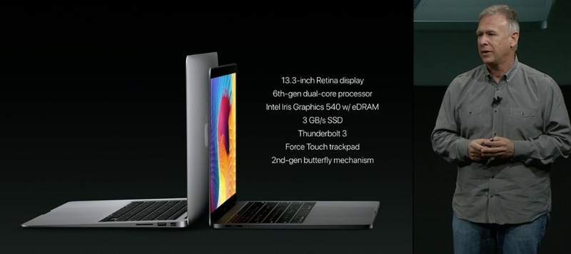 """Místo nového MacBooku Air představil Apple 13"""" MacBook Pro bez Touch Baru"""
