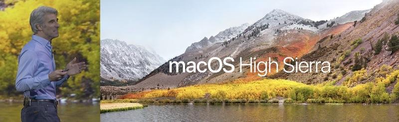 Přichází macOS High Sierra