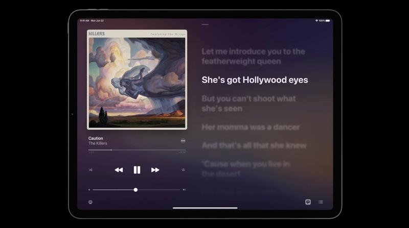 iPadOS 14 music